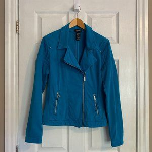 Olsen Blue Lightweight Cotton Jacket